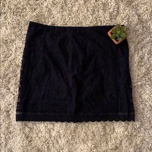 A&F Lace Navy Skirt